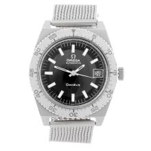 OMEGA - a gentleman's stainless steel Genève 'Divers' bracelet watch