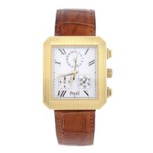 PIAGET - a gentleman's 18ct yellow gold Protocol chronograph wrist watch