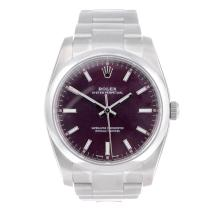 CURRENT MODEL: ROLEX - a gentleman's stainless steel Oyster Perpetual bracelet watch