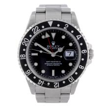 ROLEX - a gentleman's stainless steel Oyster Perpetual Date GMT-Master II bracelet watch