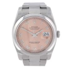 ROLEX - a gentleman's stainless steel Oyster Perpetual Datejust bracelet watch