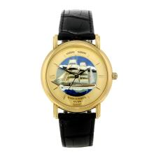 ULYSSE NARDIN - a limited edition gentleman's 18ct yellow gold San Marco Gorch Fock wrist watch,
