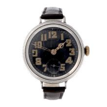 A gentleman's silver trench wrist watch