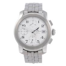 BAUME & MERCIER - a gentleman's Capeland chronograph bracelet watch. Stainl