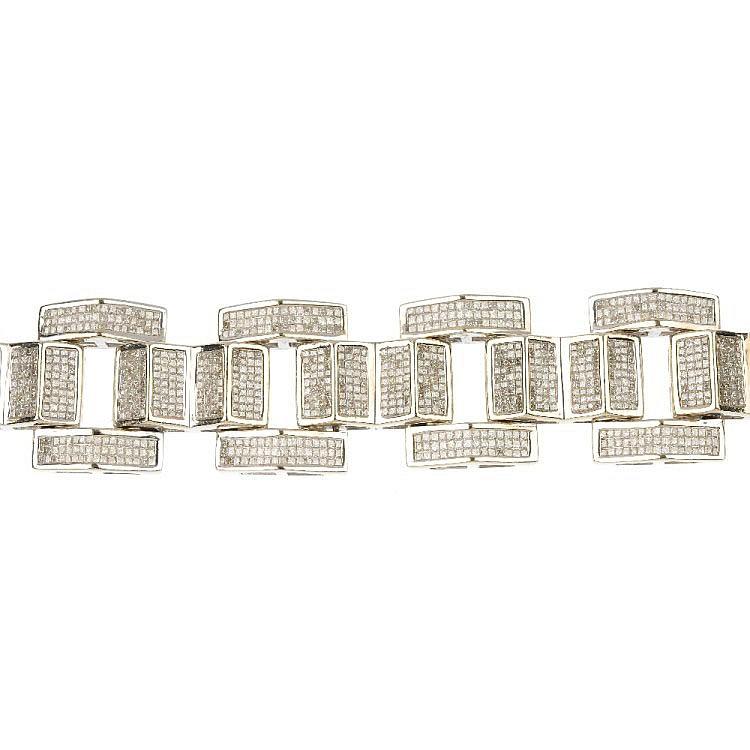 A 14ct gold diamond bracelet.
