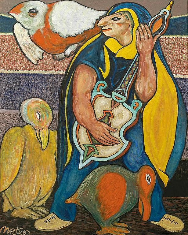 FRANCISCO MATEOS (Sevilla 1894-Madrid 1976) Óleo sobre lienzo Obra expuesta en (etiqueta al dorso): -Museo Español de Arte Contemporáneo,