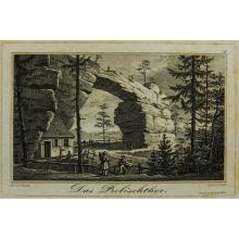 G.BUSSE (*1810) after WAGNER (*1803), Prebisch Gate in the Elbe Sandstone Mountains, Copper engravin
