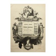 "C.NANTEUIL (1813-1873), ""The Rays Album de Chant"", Frontispiz, 1842, Lithography"