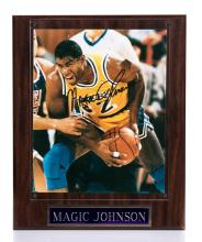 MAGIC JOHNSON SIGNED PLAQUE