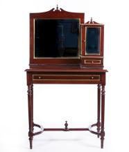 MAHOGANY LADIES VANITY DESK W/MIRROR