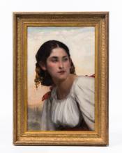 EMILE LEVY (FRANCE 1826-1890) OPC GYPSY GIRL