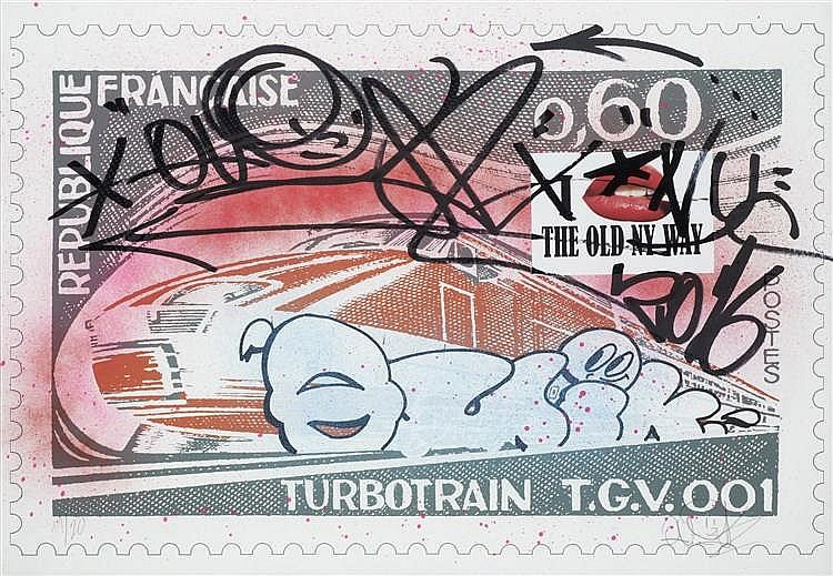 QUIK (Américain, né en 1958) - Turbotrain, 2016