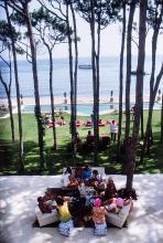 SLIM AARONS - Marbella House Party, 1967