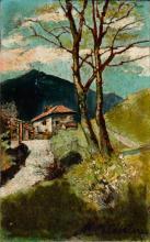 Marco Calderini (Torino 1850-1941) - Verso il casolare