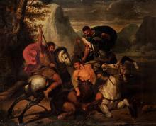 Da Benigne Gagneraux (Digione 1756 – Firenze 1795) - Lion hunt