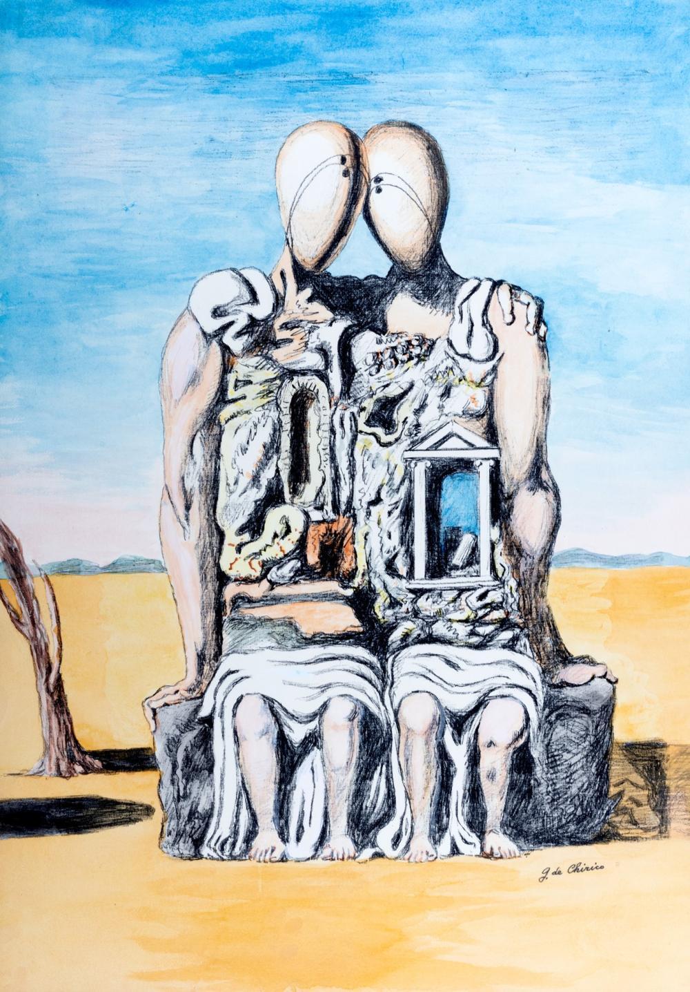 Giorgio de Chirico (Volos 1888-Roma 1978) - The Archeologists, 1970