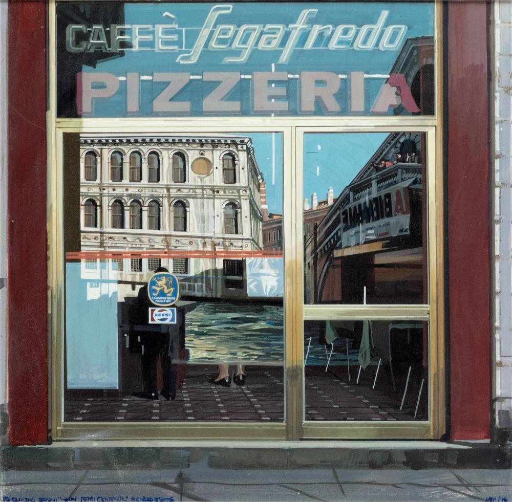 Richard Estes (Illinois 1932) - Segafredo coffee, 1976
