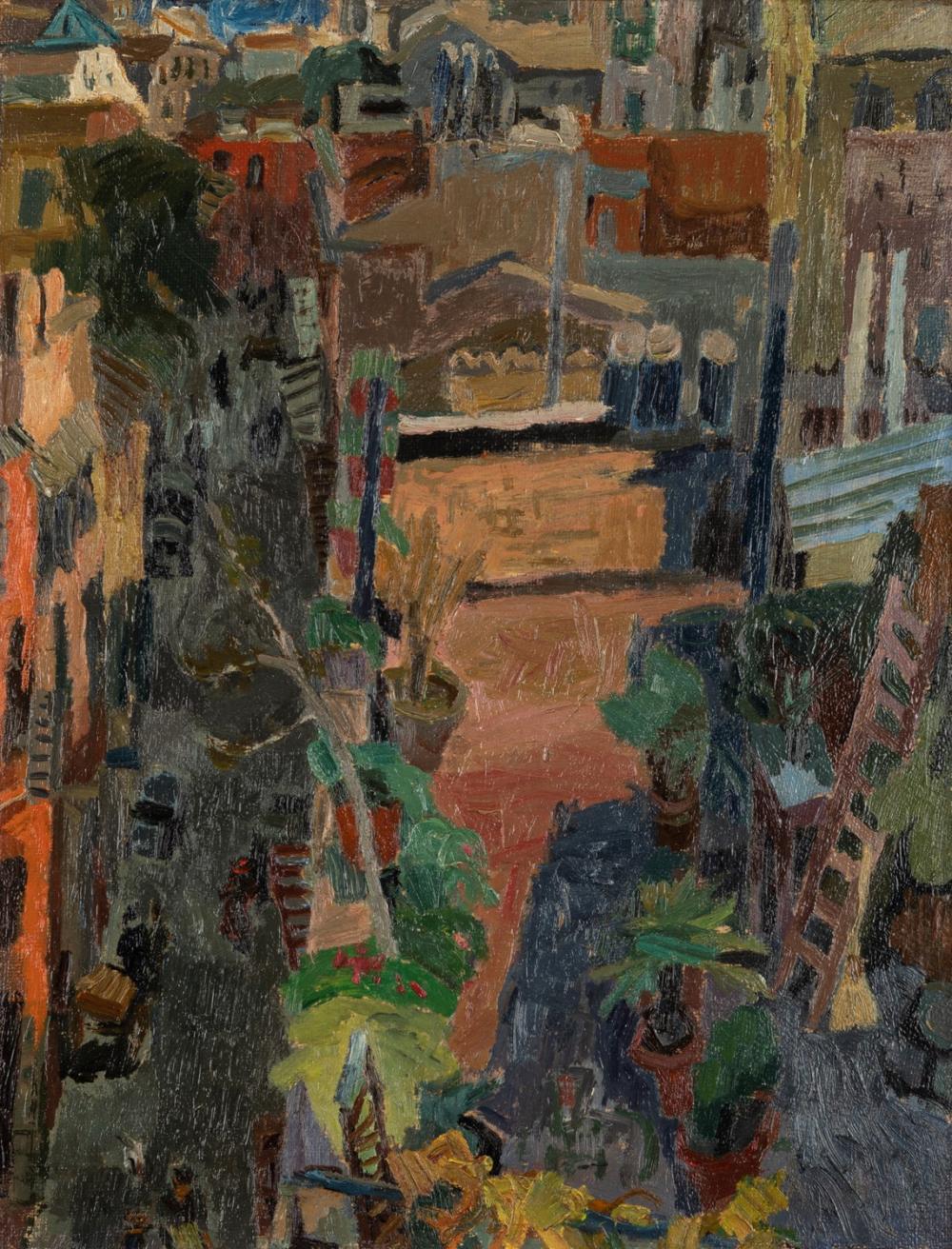 Afro Basaldella (Udine 1912-Zurigo 1976) - View of Via Margutta, 1946