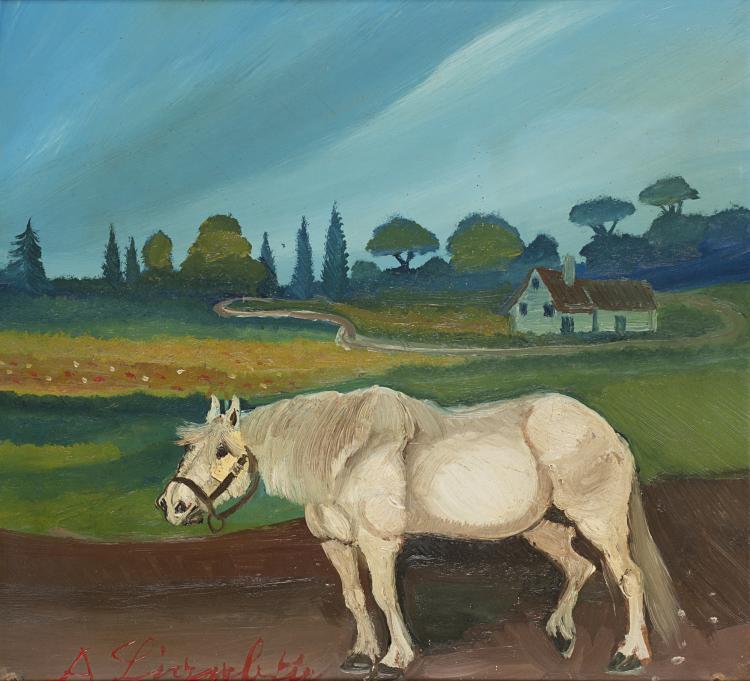 ANTONIO LIGABUE (1899 - 1965) | Cavallo, III periodo (1952-1962)
