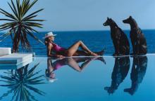 SLIM AARONS - Marbella Pool, 1985