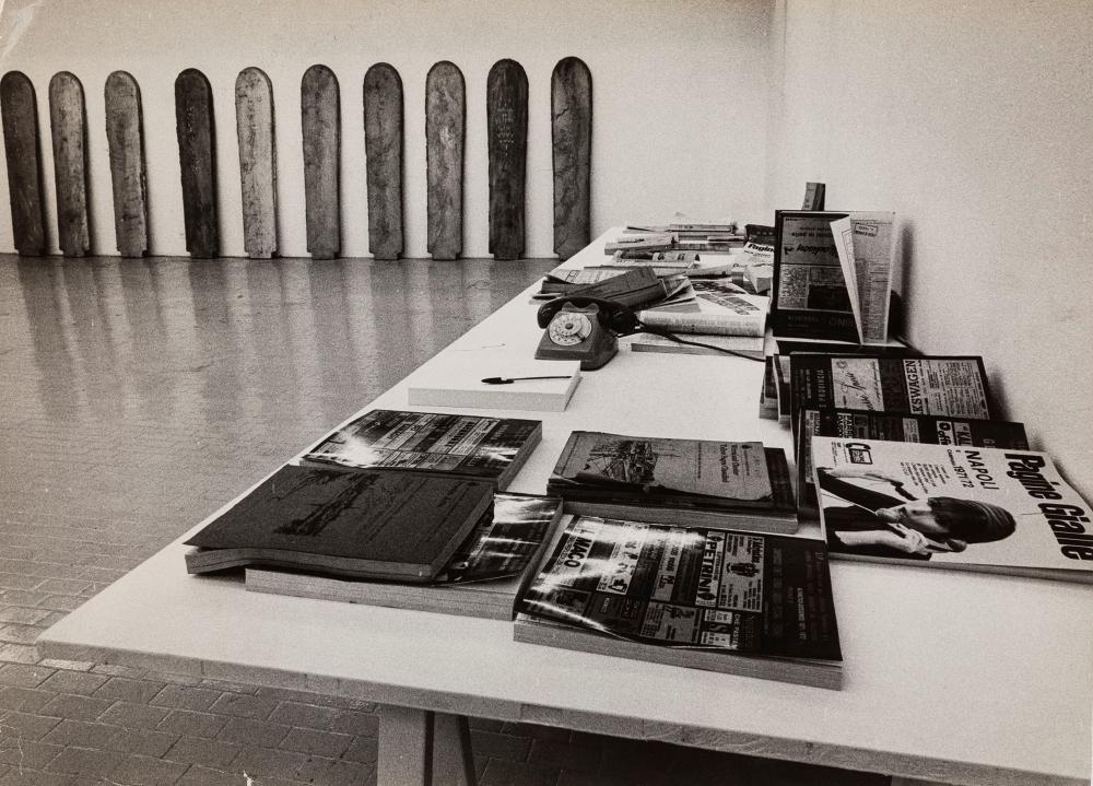 Claudio Abate (1943-2017) - Eliseo Mattiacci, Tavola delle verifiche delle scritture. Progetto. Totale., 1972