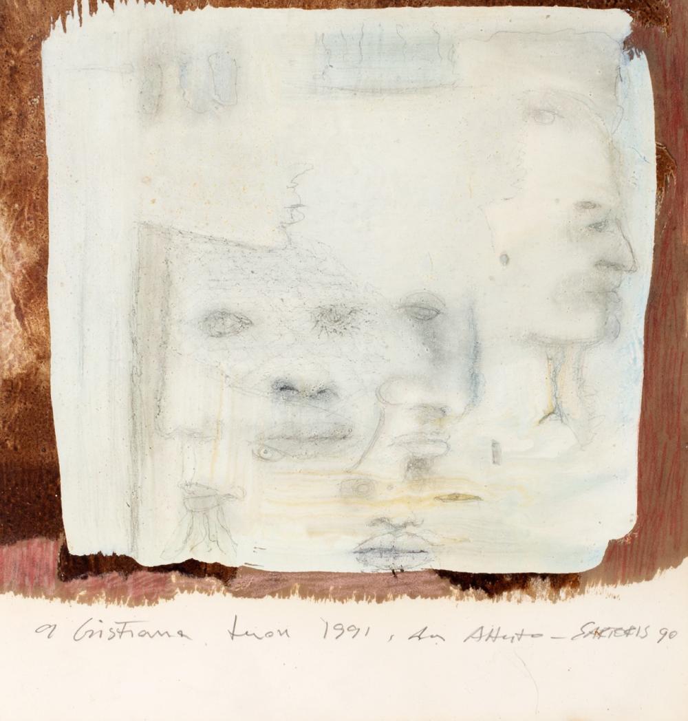 Alberto Sartoris (Torino 1901-Pompaples 1998) - Faces, 1990