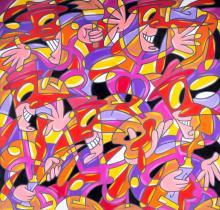 Pablo Echaurren (Roma 1951) - Artisti Micastristi, 1996