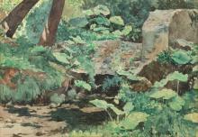 Fabio Cipolla (Roma 1852-1935) - Lights in the woods
