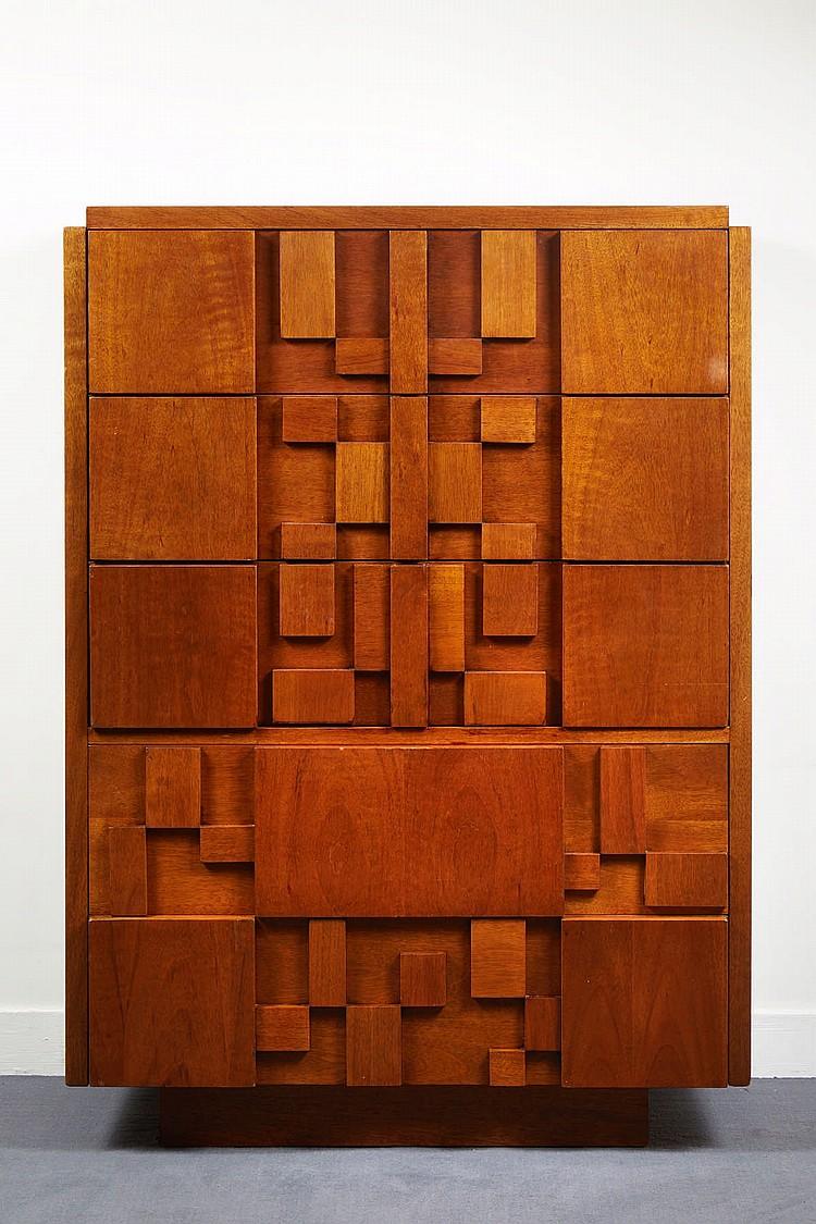 travail americain des annees 50 commode brutaliste usa 19. Black Bedroom Furniture Sets. Home Design Ideas
