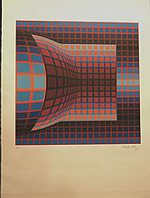 Vasarely Untitled Hand Signed Numbered Serigraph