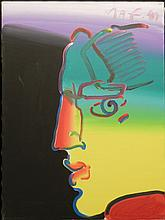 Peter Max Untitled Face Original Acrylic on Canvas