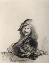 Amand Durand (After Rembrandt) Rembrandt Appuye Etching