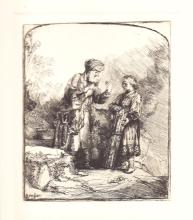 Amand Durand (After Rembrandt) Abraham Isaac was Speaking  Etching