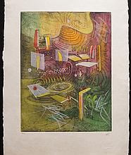 Roberto Matta from Hom'mere IV Portfolio  H/S Numbered Etching Aquatint
