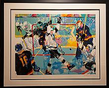 Leroy Neiman Gretzky's Goal Hand Signed Numbered Serigraph