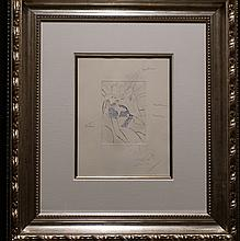 Dali Shakespeare II Henry IV BAT Working Proof Hand Signed Dali Archives Certified