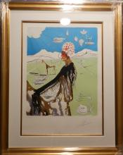 Dali The Earth Goddess (The Chef) Hand Signed Dali Certified