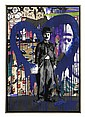 Mr. Brainwash (born in 1966) - Chaplin (Blue Heart)