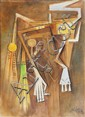 Wifredo LAM (1902-1982)-Untitled, 1969