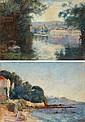 Bridge over a river / Villa by the sea