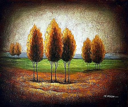 Original Oil on Canvas. Autumn II by T. Mike