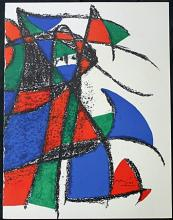 Original Lithograph By Joan Miro (1ZM)