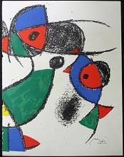 Original Lithograph By Joan Miro (3ZM)