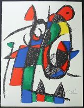 Original Lithograph By Joan Miro (4ZM)