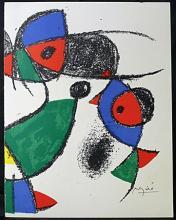 Original Lithograph By Joan Miro (7ZM)