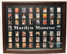 Marylin 50 Licensed Cards, Custom Framed.