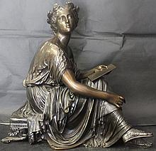 Bronze Sculpture By Auguste Moreau (243X)