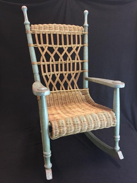 Circa 1900s Pennsylvania Dutch Country Child S Rocking Chair