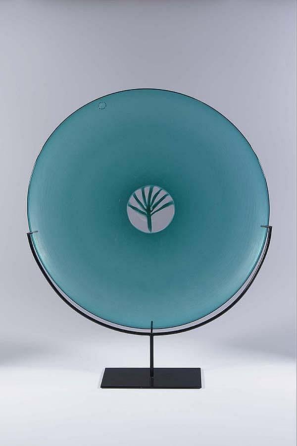 Platte Quattro Stagione Venini Murano Glass plate