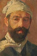 Portrait eines bärtigen Mannes mit weisser Mütze (eines Müllers ?)